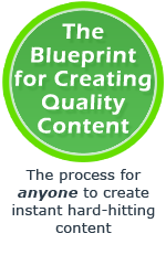 Blueprint for creating quality content